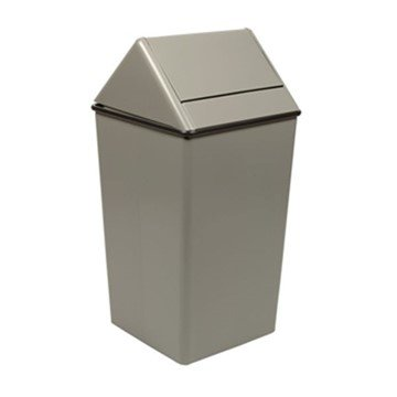 36 Gallon Stainless Steel Trash Can W/ Liner & Swing Top
