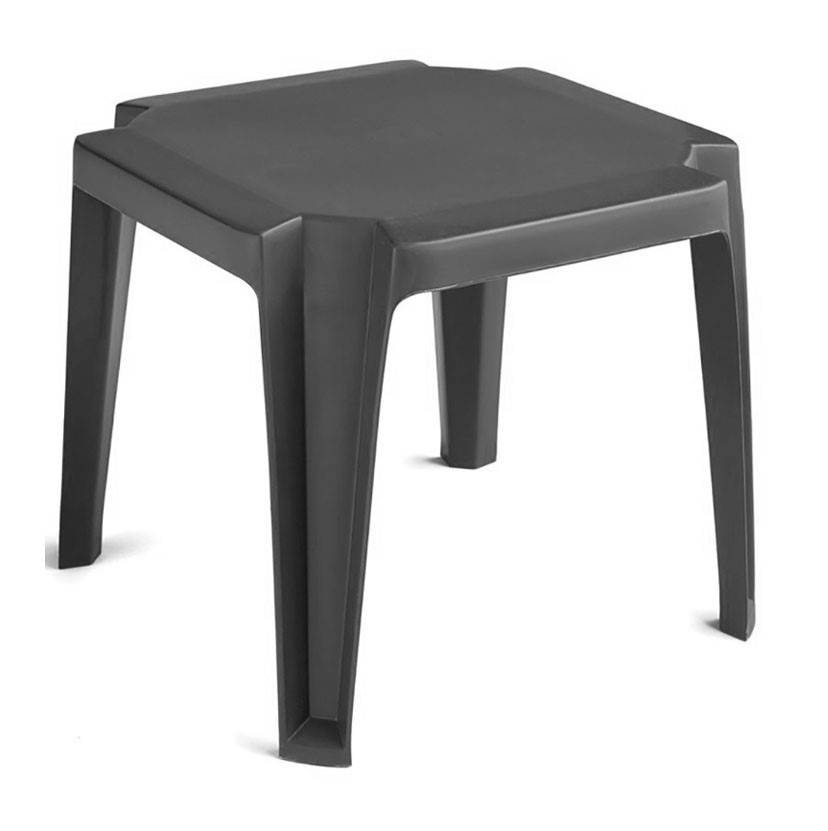 """Low Plastic Coffee Table: 17"""" X 17"""" Commercial Plastic Resin Miami Low Table"""