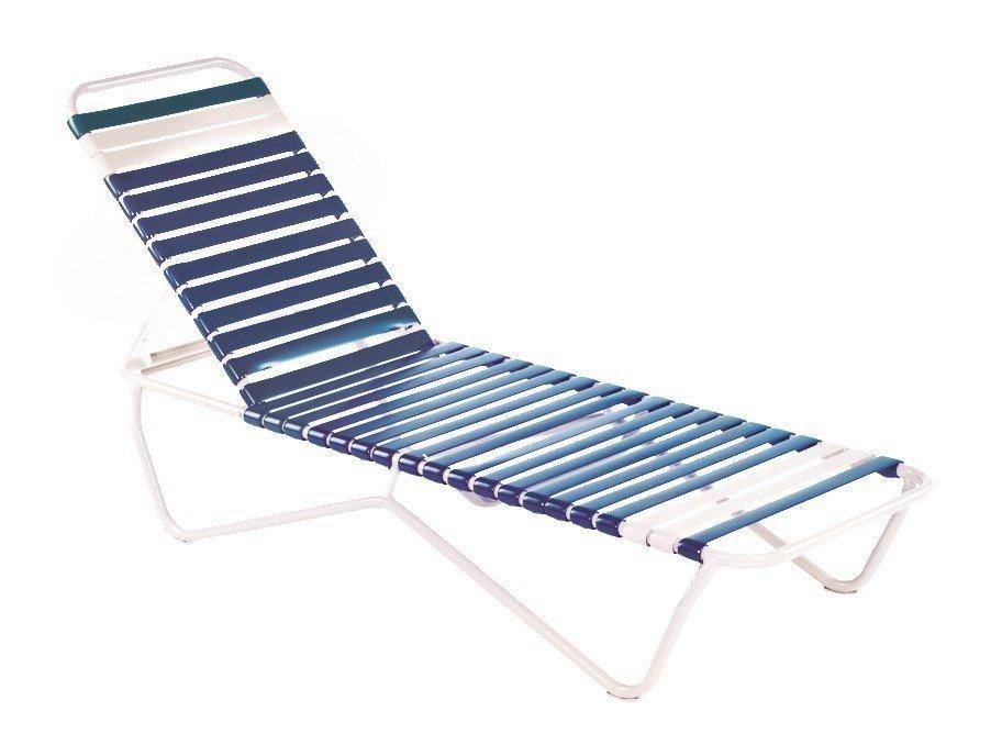 Sale St Lucia Vinyl Strap Chaise Lounge Commercial
