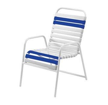 Quick Ship St. Maarten Vinyl Strap Dining Chair
