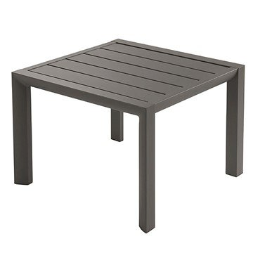 "20"" Sunset Square Aluminum Side Table - Fusion Bronze"