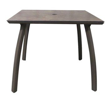 "36"" Sunset Square Aluminum Patio Dining Table -  Lava/Fusion Bronze"