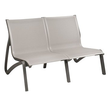 Sunset Sling Love Seat With Plastic Resin Frame