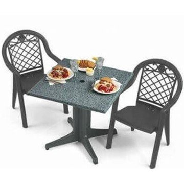 Plastic Resin Table and Chair Package, Savannah Dining Set
