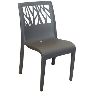 Vegetal Stackable Plastic Resin Armless Dining Chair