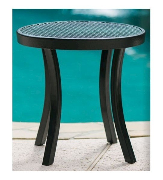 "Round Plastic Coated Metal Side Table - 20"" or 24"""