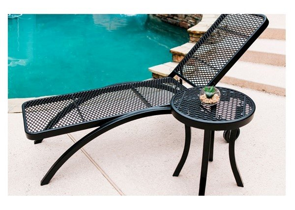 Plastic Coated Metal Patio Chaise Lounge