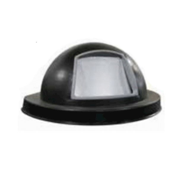 22 or 32 Gallon Plastic Coated Steel Dome Top Lid with Spring Loaded Self Closing Door