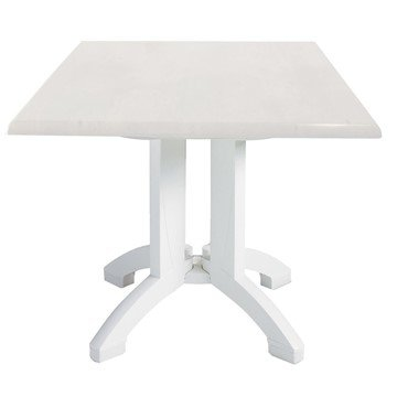 Square White Atlanta Plastic Resin Table