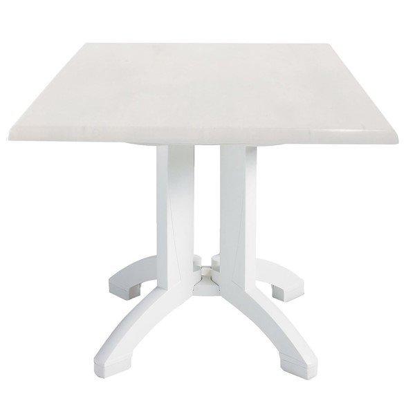 Square White Atlanta Plastic Resin Table