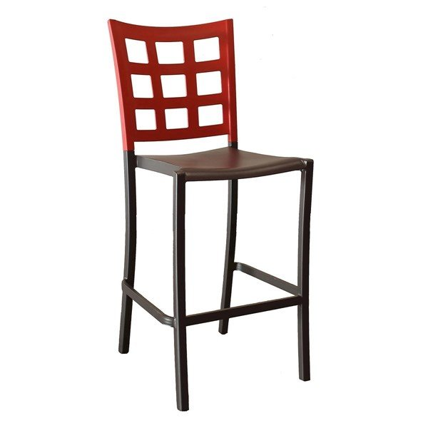 Plazza Commercial Grade Plastic Resin Interior Barstool - 22 lbs.