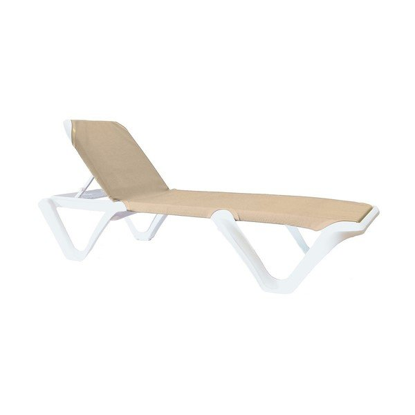 Nautical Pro Sling Chaise Lounge With Plastic Resin Frame 39 Lbs