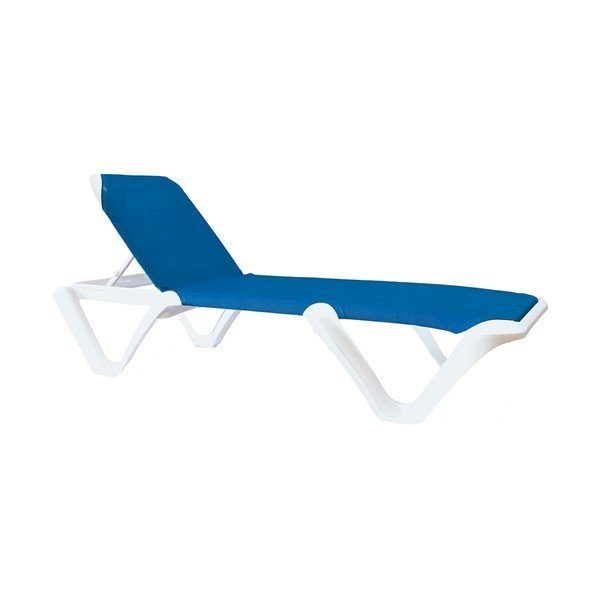 Nautical Pro Sling Chaise Lounge With Plastic Resin Frame - 39 Lbs.