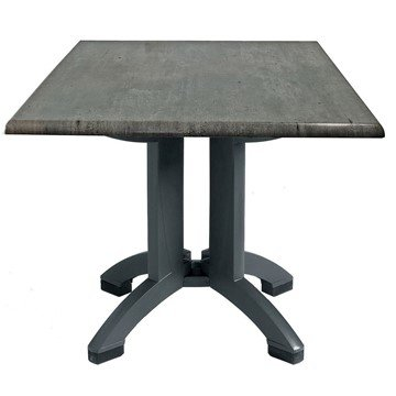 "32"" Square Toledo Plastic Resin Table"