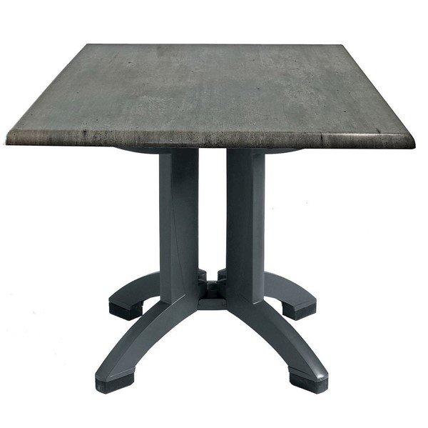 "32"" Square Toledo Plastic Resin Table"