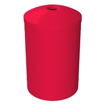 55 Gallon Round Smooth Plastic Recycling Receptacle with Mushroom Top & Liner - 28 lbs.