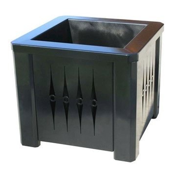 "16"" Square Custom Cut Steel Panel Planter with Plastic Liner - 36 lbs."