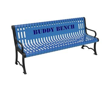 ELITE Series Thermoplastic Contour Slatted Austin Buddy Bench - Quick Ship – 4 of 6 ft.