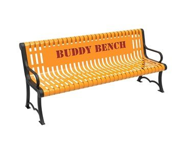RHINO Series Thermoplastic Contour Slatted Austin Buddy Bench - Quick Ship – 4 of 6 ft.
