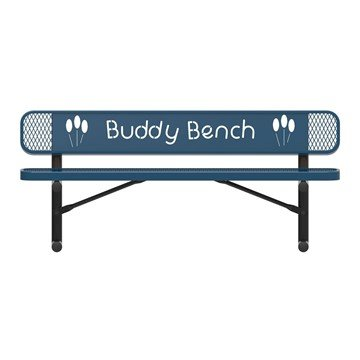 ELITE Series Rectangular Thermoplastic Buddy Bench – 4 Foot, 5 Foot, or 6 Foot - Quick Ship