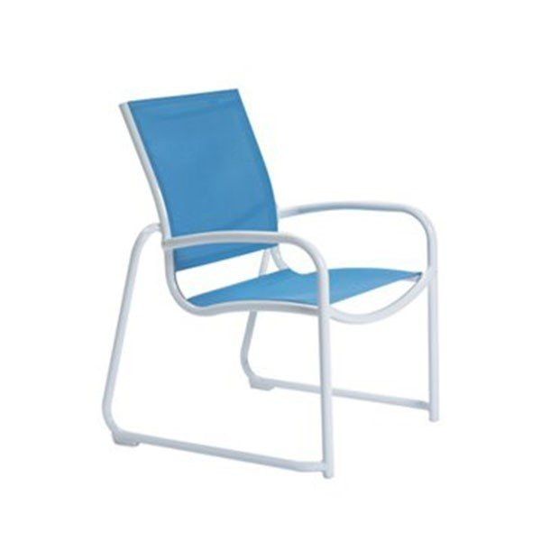 Millennia Relaxed Sling Dining Chair With Aluminum Sled Base - 8.5 Lbs.