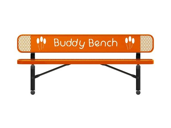 RHINO Series Rectangular Thermoplastic Buddy Bench – 4 Foot, 6 Foot, or 8 Foot - Quick Ship