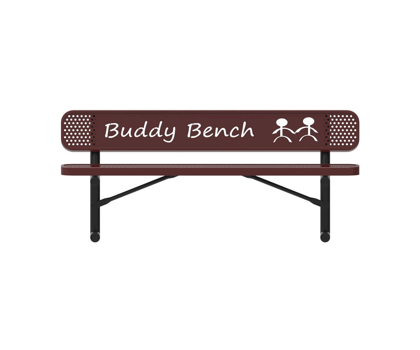 RHINO Series Rectangular Thermoplastic Buddy Bench – 4 Foot, 6 Foot on heavy duty bench, 9 ft bench, square bench, portable bench, electronic bench, 6 foot bench, work bench, 8 ft storage bench, kitchen bench, 5 foot bench, glass bench, 36 inch bench, outdoor wooden memorial bench, aluminum bench,