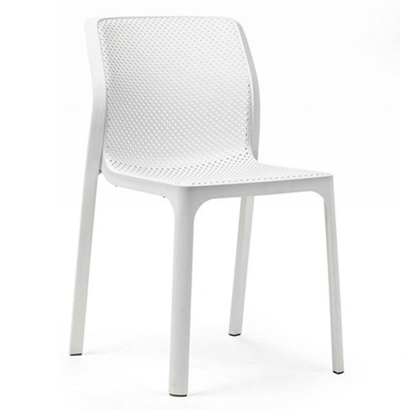 Bit Plastic Resin Dining Chair by Nardi