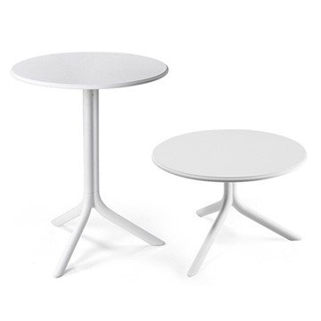"24"" Round Spritz Plastic Resin Table"