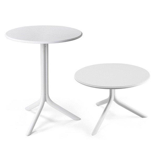 "24"" Round Spritz Plastic Resin Table"