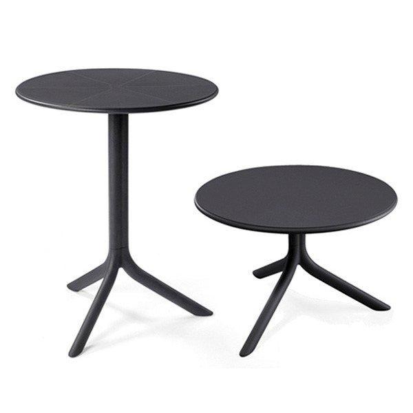 24 Round Spritz Plastic Resin Table