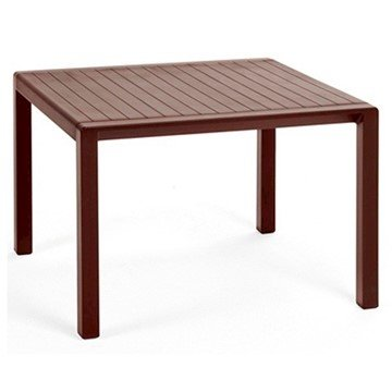 "24"" Square Aria Plastic Resin Side Table"