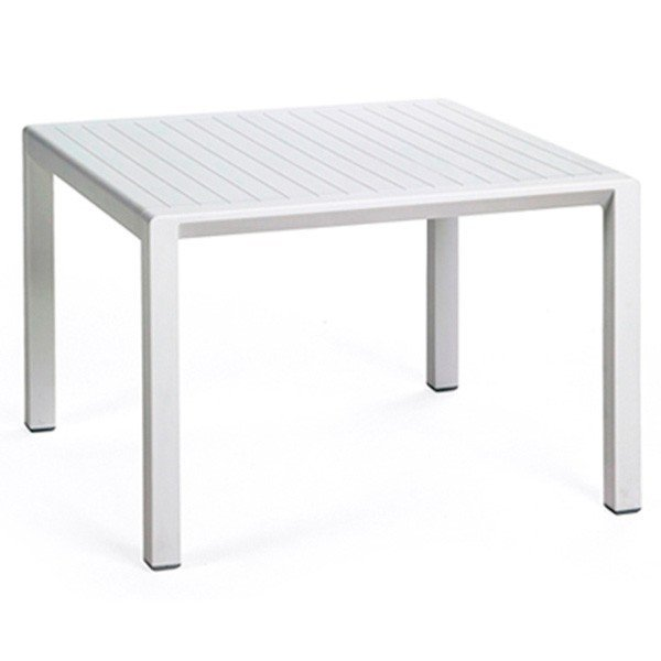 24 Square Aria Plastic Resin Side Table 9 Lbs Furniture Leisure