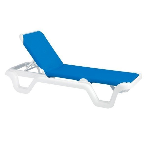 Marina Sling Chaise Lounge with Plastic Resin Frame