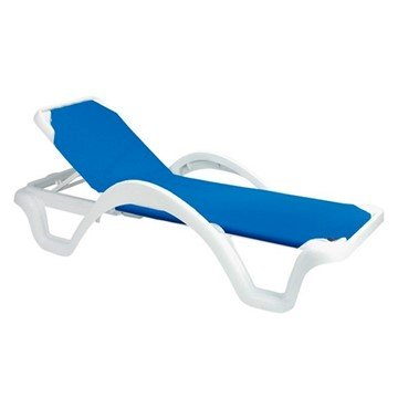 Catalina Sling Chaise Lounge with Plastic Resin Frame