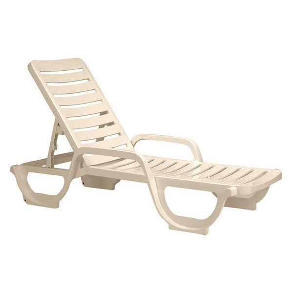 Bahia Plastic Resin Commercial Grade Pool Chaise Lounge