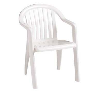 Miami Lowback Stacking Commercial Plastic Resin Armchair
