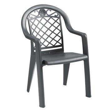Savannah Stacking Commercial Highback Plastic Resin Armchair