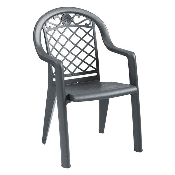 Savannah Stacking Commercial Highback Plastic Resin Armchair