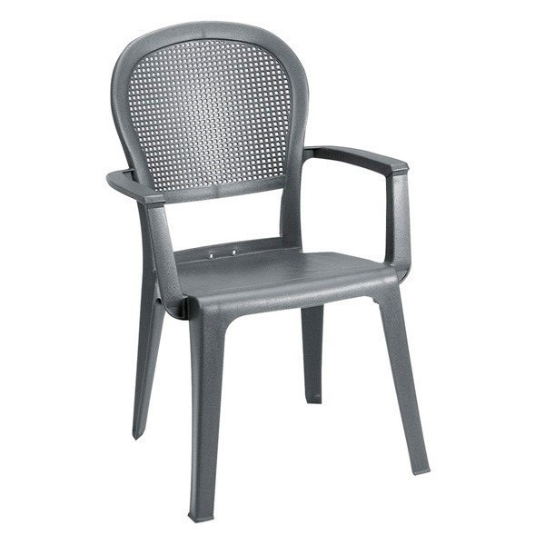 Seville Commercial Plastic Resin Stacking Armchair