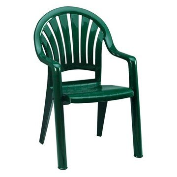 Pacific Fanback Stacking Commercial Plastic Resin Armchair