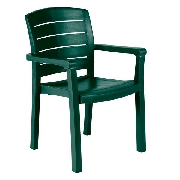 Acadia Stacking Commercial Plastic Resin Dining Armchair