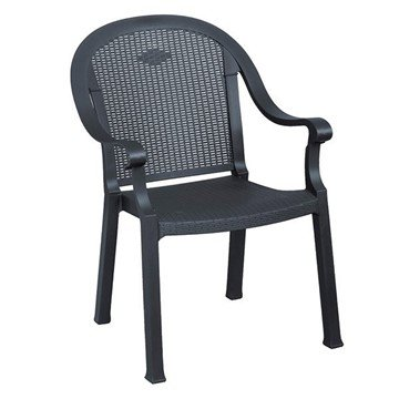 Sumatra Stacking Commercial Highback Plastic Resin Armchair