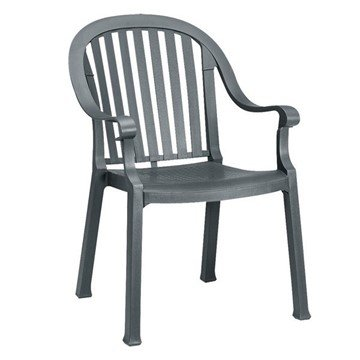Colombo Stacking Commercial Highback Plastic Resin Armchair