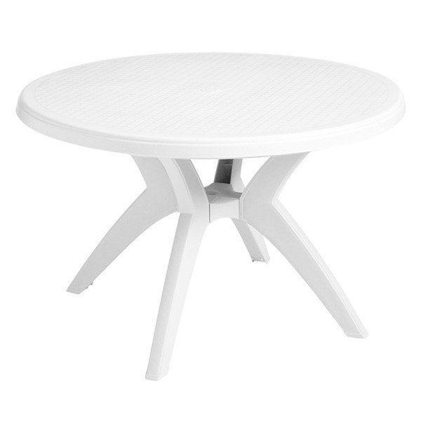 Ibiza 46 round plastic resin commercial pool dining table for Plastik pool rund