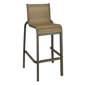 Sunset Sling Armless Barstool with Aluminum Frame