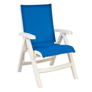 Belize Plastic Resin Sling Folding Deck Chair