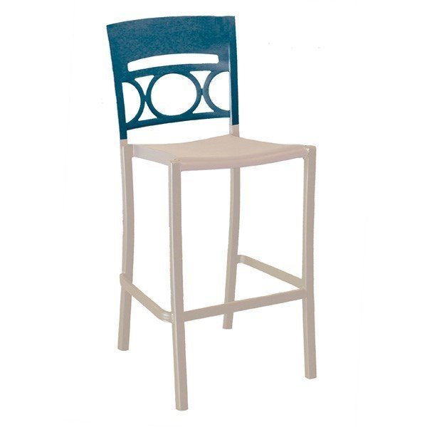 Moon Armless Stacking Commercial Plastic Resin Barstool