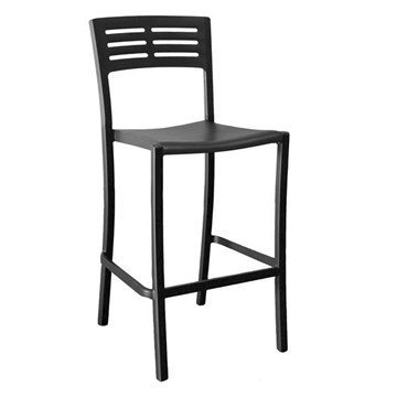 Vogue Armless Stacking Commercial Plastic Resin Barstool