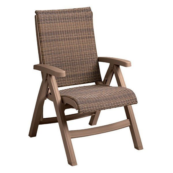 Plastic Resin Java All Weather Wicker Folding Chair
